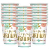 Boho Birthday Girl Cups 9oz (24)