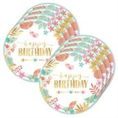 Boho Birthday Girl 10.5 Plates (24)