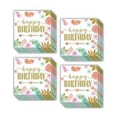 Boho Birthday Girl Beverage Napkins (48)