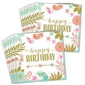 Boho Birthday Girl Lunch Napkins (48)