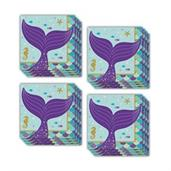 Mermaid Wishes Beverage Napkins (48)