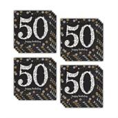 Sparkling Celebration 50th Beverage Napkins (48)