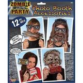 Zombie Party Decor Photo Booth Props (12pc)