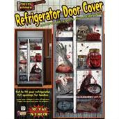 "Creepy Kitchen Refrigerator Removable Door Cover 30"" x 63"""