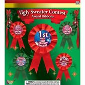 Ugly Christmas Sweater Award Ribbons - Set of 5