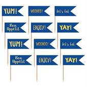Blue and Gold Cupcake Toppers (24)