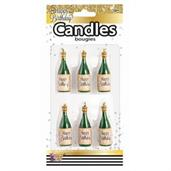 Birthday Champagne Bottle Candles (6)