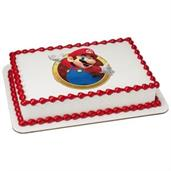 Super Mario Quarter Sheet Edible Cake Topper (Each)