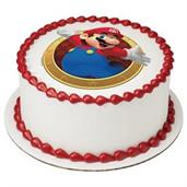 "Super Mario 7.5"" Round Edible Cake Topper (Each)"