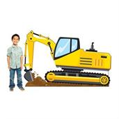 Excavator Construction Standee
