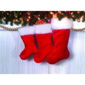 Santa Deluxe Plush Stocking 19""