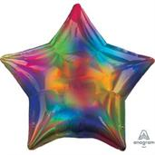 19 Iridescent Rainbow Star - Flt Foil Balloon