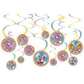 Rainbow Butterfly Unicorn Kitty Hanging Swirl Decorations (12)