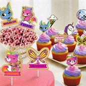 Rainbow Butterfly Unicorn Kitty Toppers (12)
