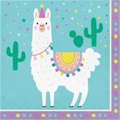 Llama Party Lunch Napkin (16)