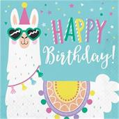 Llama Party Happy Birthday Lunch Napkin (16)