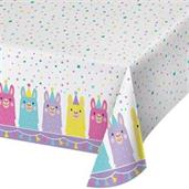 "Llama Party Plastic Tablecover 54"" x 102"""