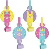 Llama Party Party Blowers (8)