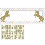 "Sparkle Unicorn 20"" x 60"" Banner"