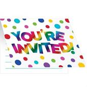 Rainbow Foil Invitation (8)