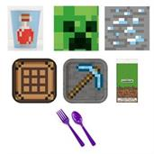 Minecraft Party Supplies Deluxe party pack for 8