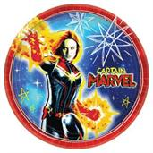 Captain Marvel Plates