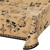 "Treasure Island Pirate Plastic Tablecover 54"" x 10"