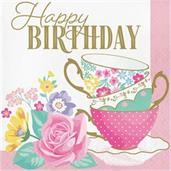 Floral Tea Party Happy Birthday Lunch Napkin (16)
