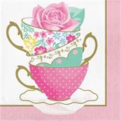 Floral Tea Party Teacup Lunch Napkin (16)
