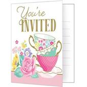 Floral Tea Party Invitations (8)