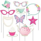 Floral Tea Party Photo Booth Props (10)