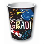 Graduation 9oz Paper Cups (8)