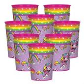 Rainbow Butterfly Unicorn Kitty 16oz Plastic Favor