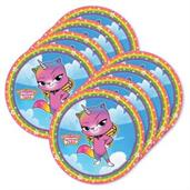 Rainbow Butterfly Unicorn Kitty Dessert Plate (24)