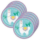 Llama Party Lunch Plate (24)