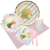 Unicorn Sparkle 16th Birthday Party Pack for 8