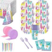 Llama Party Deluxe Tableware Kit with Favor Cup (S