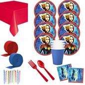 Captain Marvel Deluxe Tableware Kit (Serves 8)