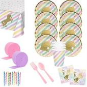 Unicorn Sparkle 16th Birthday Deluxe Tableware Kit