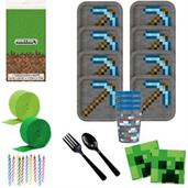 Minecraft Deluxe Tableware Kit with Favor Cups (Se