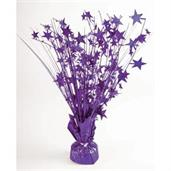 "15"" Starburst Balloon Weight Centerpiece - Purple"