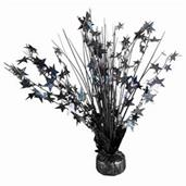 "15"" Starburst Balloon Weight Centerpiece - Black"