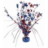 "15"" Balloon Weight Centerpiece - Red, Blue & Silve"