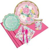 Floral Tea Party w/ Scalloped Plate Pack for 8