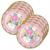 Floral Tea Party Lunch Plate (24)