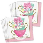 Floral Tea Party Teacup Lunch Napkin (48)