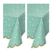 Floral Tea Party Plastic Tablecover (2)