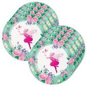 Floral Fairy Lunch Plate (24)