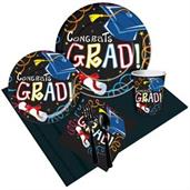 Congrats Grad Multi-Color Party Pack for 8