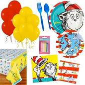 Dr Seuss Party Supplies Kit for 16